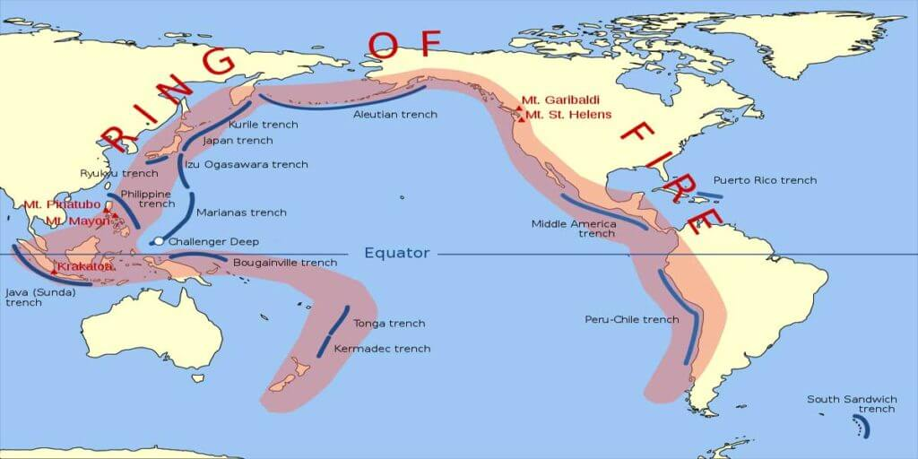 """Geothermal energy can be easily found and made use of along the """"Ring of Fire"""" area"""