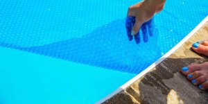 Solar Pool Cover Bubbles Up Or Down
