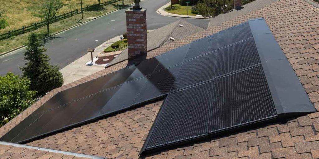Composite Roof WIth Solar Panels