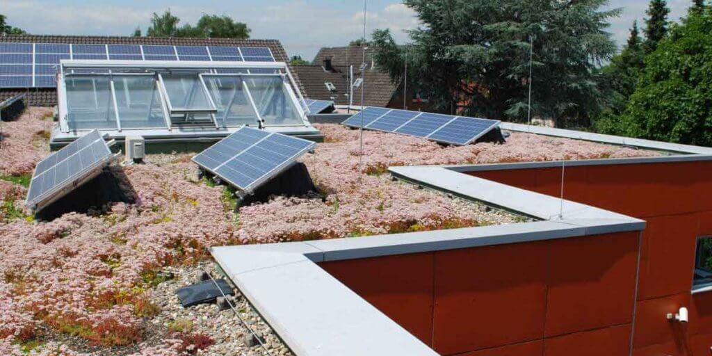 Tar And Gravel Roof With Solar Panels