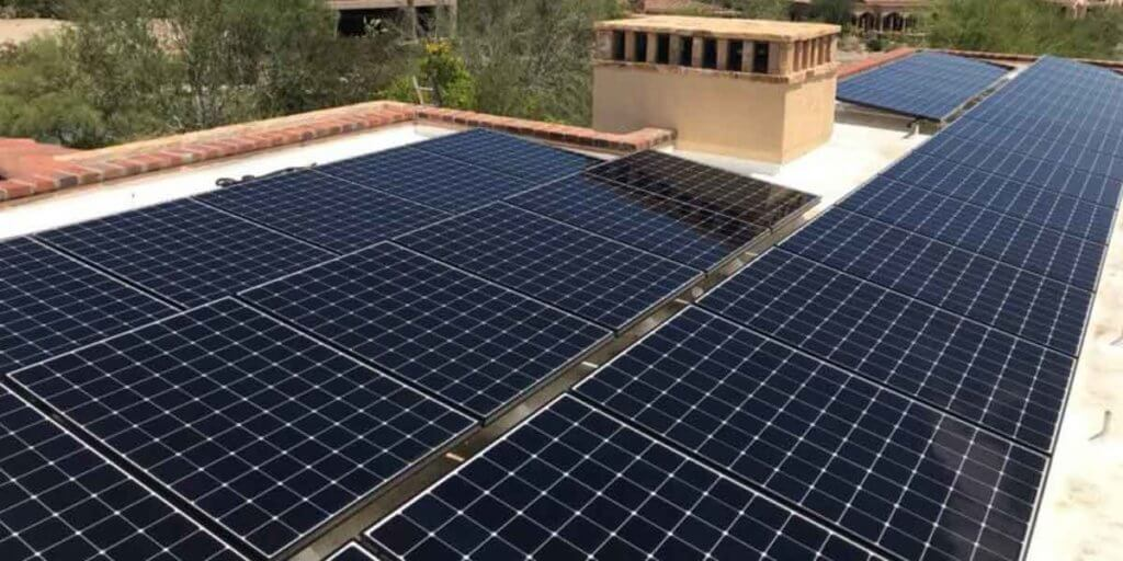 Torch Down Roof With Solar Panels